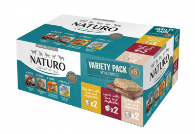 Adult Dog with Rice Variety Pack Trays 400g x 6