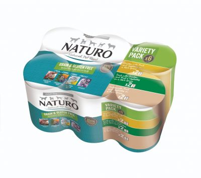 Adult Dog Grain & Gluten Free Variety Pack Cans in a Herb Gravy 390g x 6
