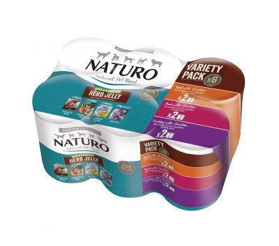 Adult Dog Grain & Gluten Free Variety Pack Cans in a Herb Jelly 390g x 6