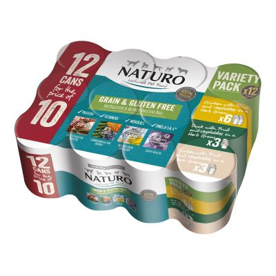 Adult Dog Grain & Gluten Free Variety Pack Cans in a Herb Gravy 390g x 12